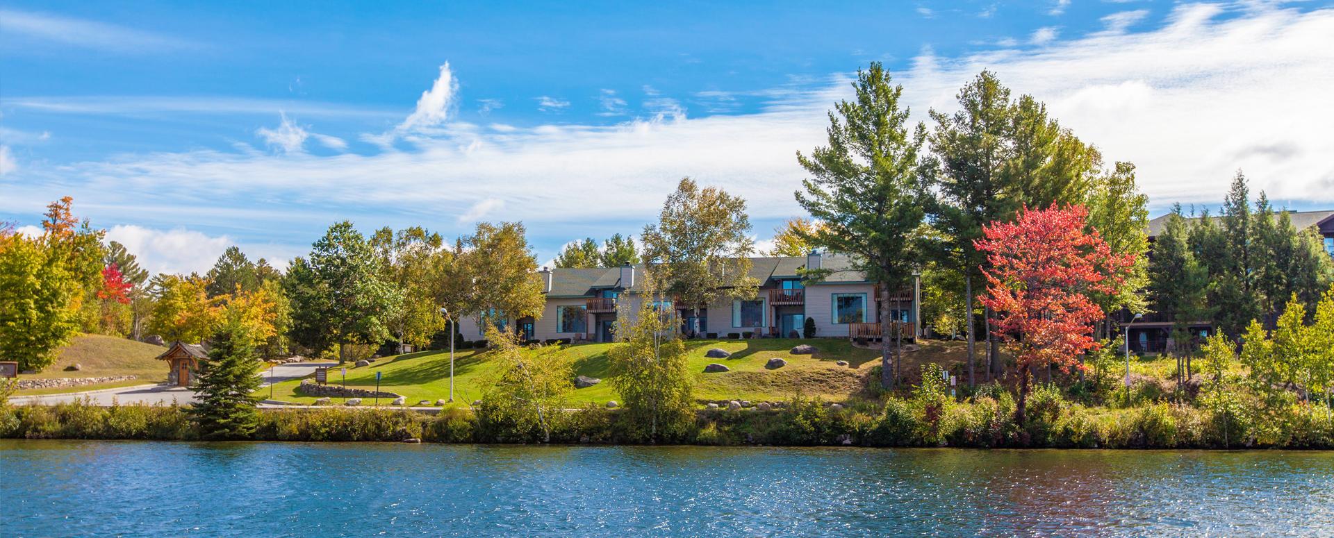 Lake Placid Club Lodges - view from Mirror Lake