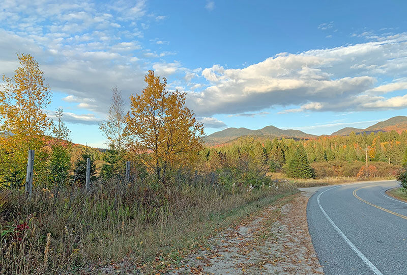 River Road view of Whiteface